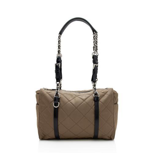 Prada Quilted Tessuto Shoulder Bag