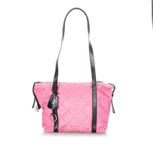 Prada Quilted Tessuto Tote Bag