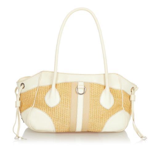Prada Raffia Shoulder Bag
