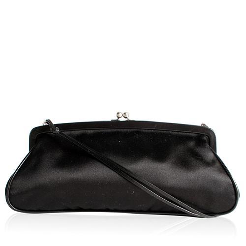 Prada Raso Chic Framed Evening Handbag