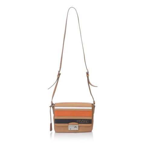 Prada Righe Saffiano Leather Shoulder Bag