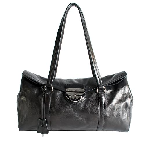 Prada Royal Calf Easy Satchel Handbag