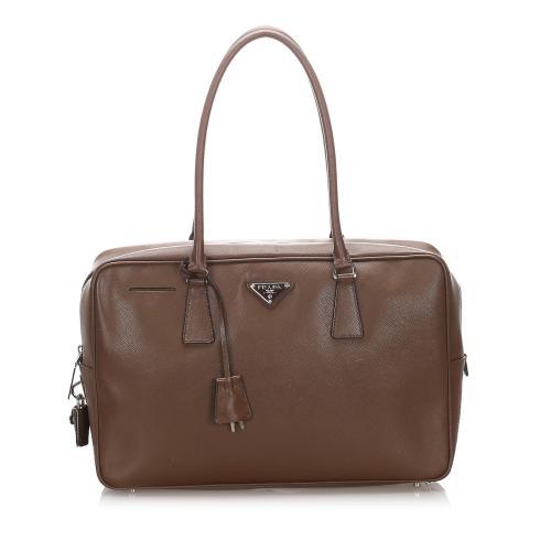 Prada Saffiano Bauletto Shoulder Bag
