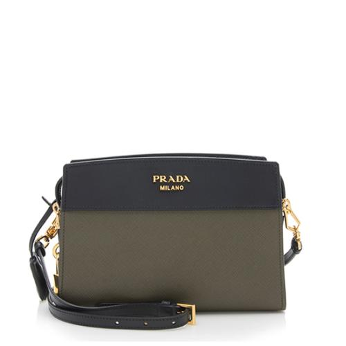 Prada Bicolor Saffiano Leather Camera Shoulder Bag