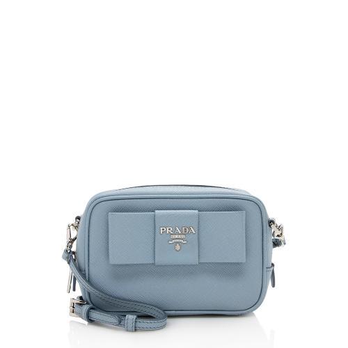 Prada Saffiano Bow Camera Crossbody Bag