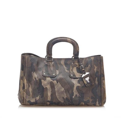 Prada Saffiano Camouflage Satchel