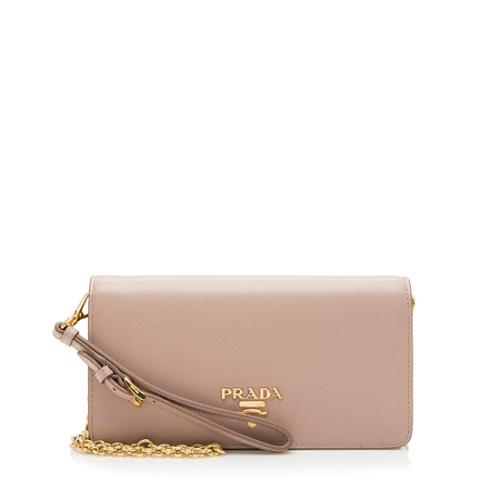 Prada Saffiano Leather Chain Mini Bag