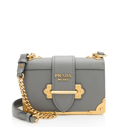 Prada Calfskin City Cahier Shoulder Bag