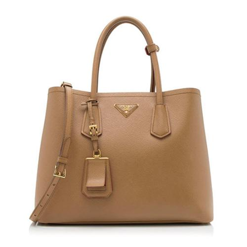 Prada Saffiano Cuir Double Handle Large Tote