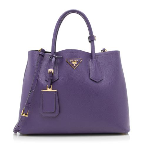 Prada Saffiano Cuir Double Handle Medium Tote