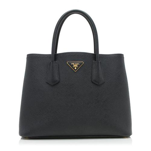 Prada Saffiano Cuir Double Handle Small Tote