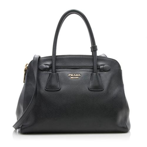 Prada Saffiano Cuir Leather Small Tote