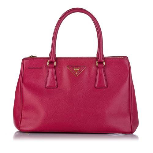 Prada Saffiano Double Zip Galleria Handbag
