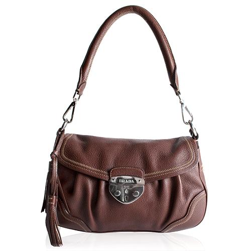 Prada Saffiano Flap Small Shoulder Handbag