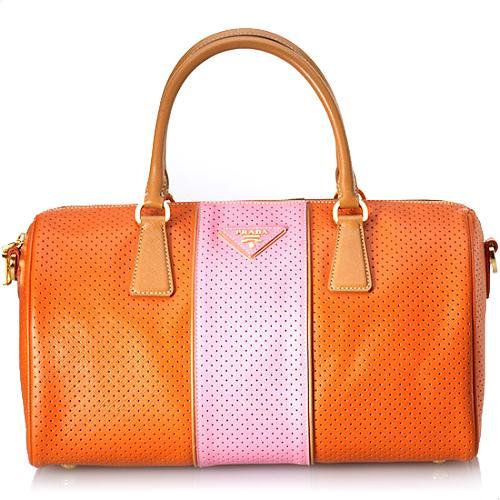 Prada Saffiano Fori Satchel Handbag