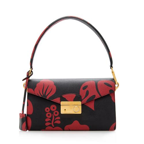 Prada-Saffiano-Hibiscus-Sound-Shoulder-Bag 100270 front large 0.jpg 17900b32a99ee