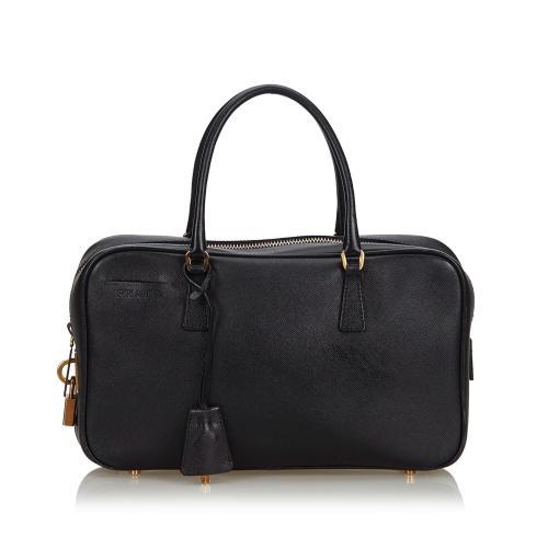 Prada Saffiano Leather Bauletto Satchel