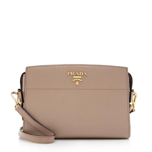 Prada Saffiano Leather Camera Shoulder Bag