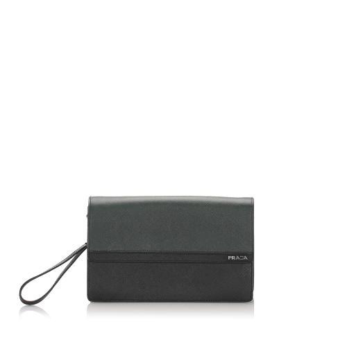 Prada Saffiano Leather Clutch Bag