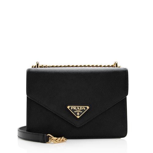 Prada Saffiano Leather Envelope Chain Bag