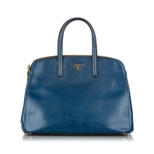Prada Saffiano Leather Lux Promenade Satchel