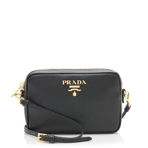 b12972f0ffa8a3 Prada Saffiano Leather Medium Camera Bag