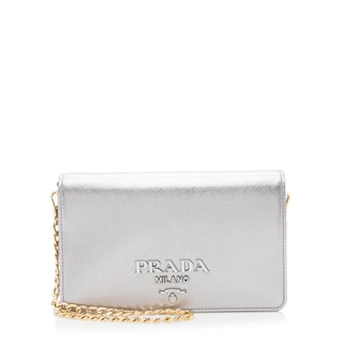 Prada Saffiano Leather Monochrome Small Crossbody Bag
