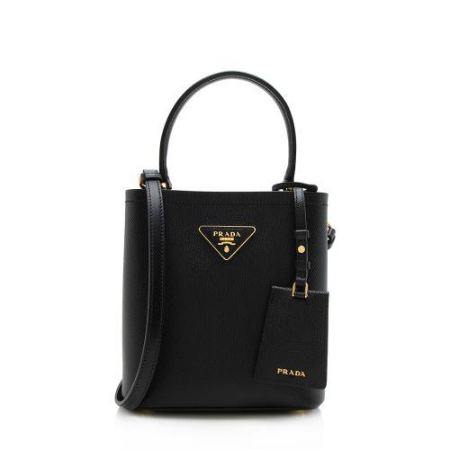 Prada Saffiano Leather Panier Small Bucket Bag