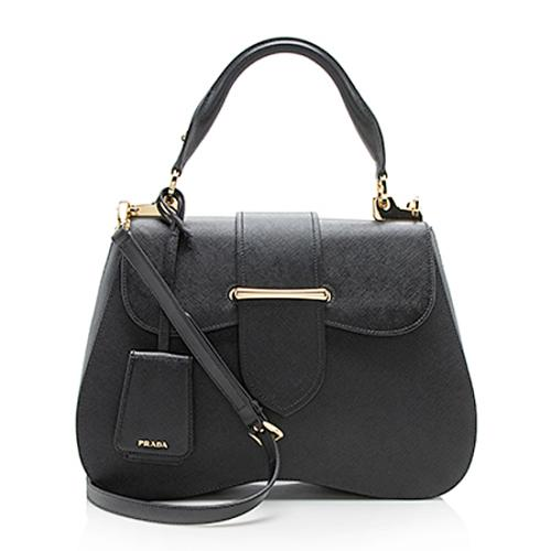 Prada Saffiano Leather Sidonie Large Satchel
