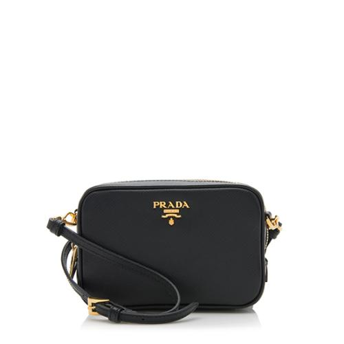 Prada Saffiano Leather Small Camera Bag