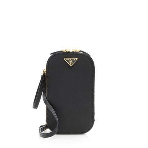 Prada Saffiano Leather Triangle Mini Bag