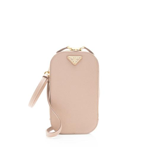Prada Saffiano Leather Triangle Mini Bag