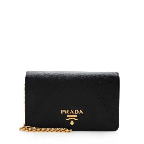 Prada Saffiano Lux Chain Wallet