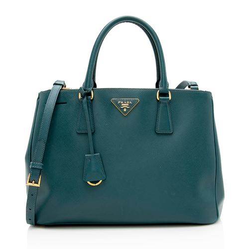 Prada Saffiano Lux Double-Zip Medium Tote