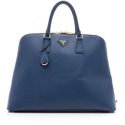 Prada Saffiano Lux Large Top Handle Satchel