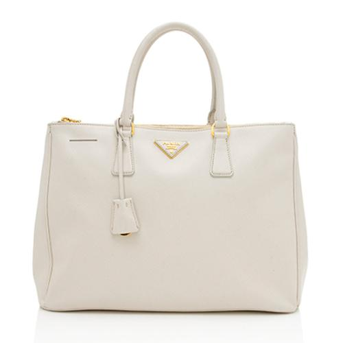 Prada Saffiano Lux Leather Double-Zip Large Tote