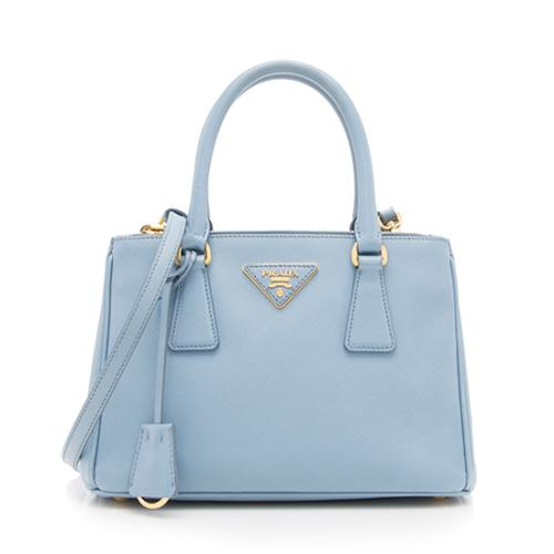 Prada Saffiano Lux Mini Double Zip Tote