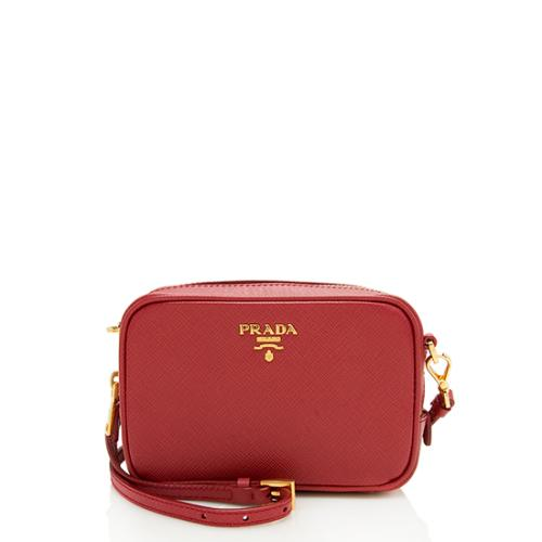 Prada Saffiano Leather Mini Camera Bag