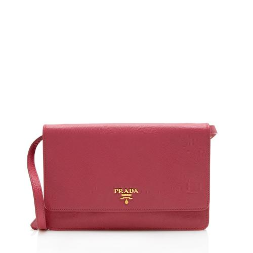 Prada Saffiano Mirror Wallet on Chain Bag