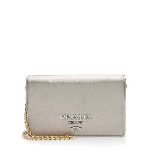 Prada Saffiano Small Monochrome Crossbody Bag