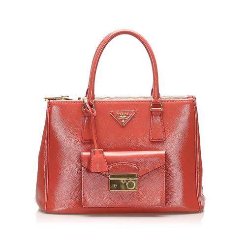 Prada Saffiano Sound Lock Satchel