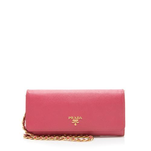 Prada Saffiano Wallet Crossbody Bag