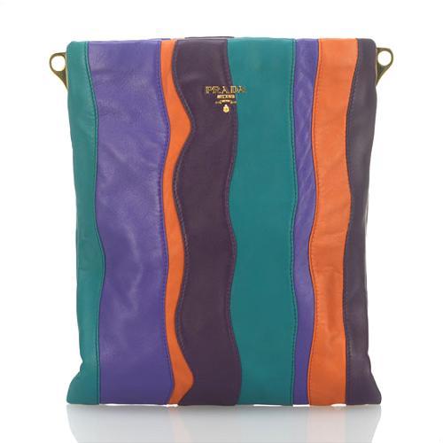 Prada Small Nappa Stripes Messenger Handbag