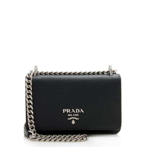 d46ac16c6d0268 Prada Soft Calf Chain Crossbody Bag