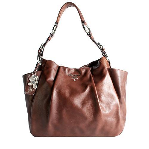 Prada Soft Calf Double Pocket Hobo Handbag