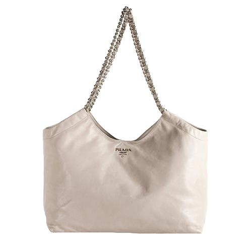 8c4314be4b Prada-Soft-Calf-Leather-Chain-Tote 59352 front large 1.jpg
