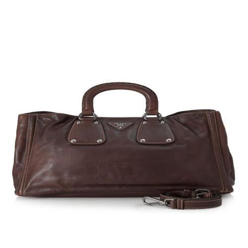 Prada Soft Calf Leather Satchel