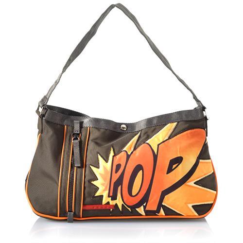 Prada Sport Tessuto Pop Print Shoulder Handbag