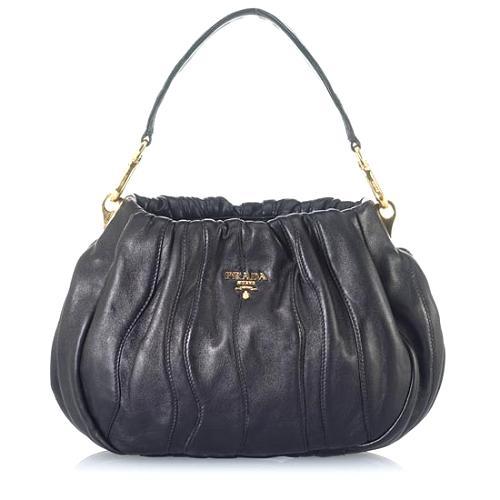 Prada Striped Nappa Hobo Handbag - FINAL SALE