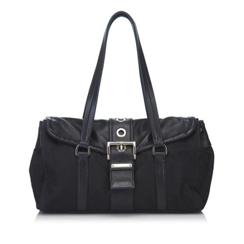 Prada Tessuto Nappa Buckle Shoulder Bag